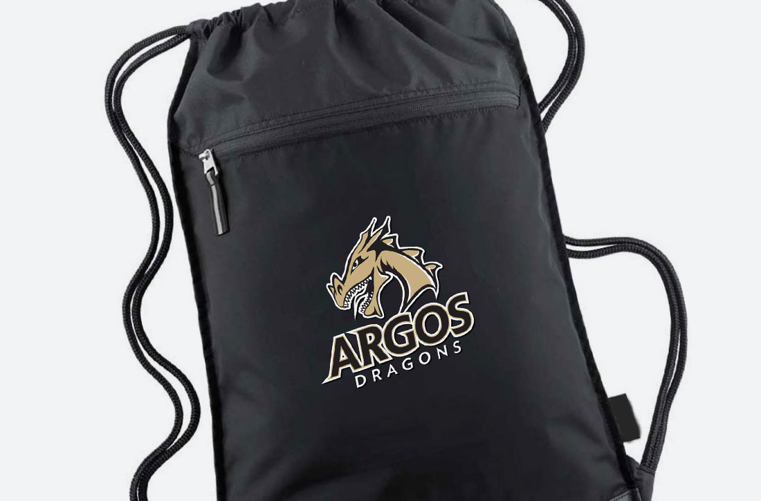 Logo design on bag