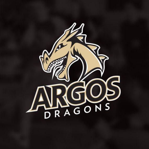 Argos dragons logo design